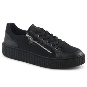 Mens Razor Blade Punk Gothic Sneaker Zipper Shoes
